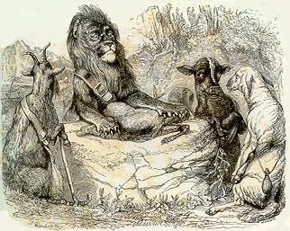 лев на ловле мораль